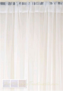 Batiste Sheer Curtain Drapery Panels