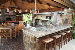 Kitchen: Beautiful Image Of Outdoor Kitchen Design And