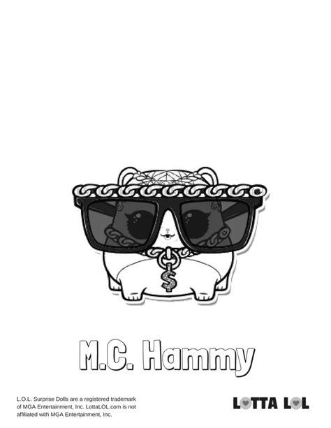 Kleurplaat Mc 2 by Mc Hammy Coloring Page Lotta Lol Lol Series 3