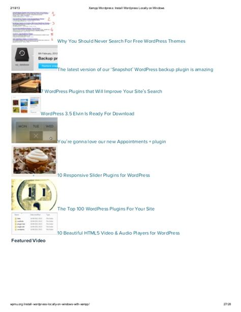 xampp wordpress install wordpress locally  windows