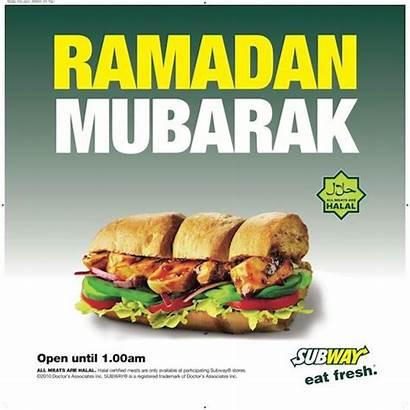 Subway Ramadan Halal Werbung Angleterre Irlande Advertising