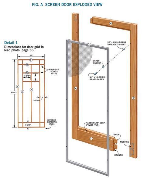 wooden screen door plans plans diy   plans