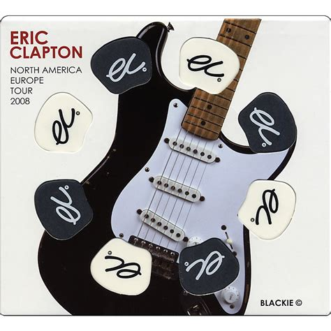 Gear One Eric Clapton 2008 Commemorative 8piece Guitar Pick Set Music123