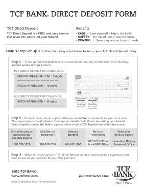 bank letter for direct deposit deposit form templates fillable printable sles for