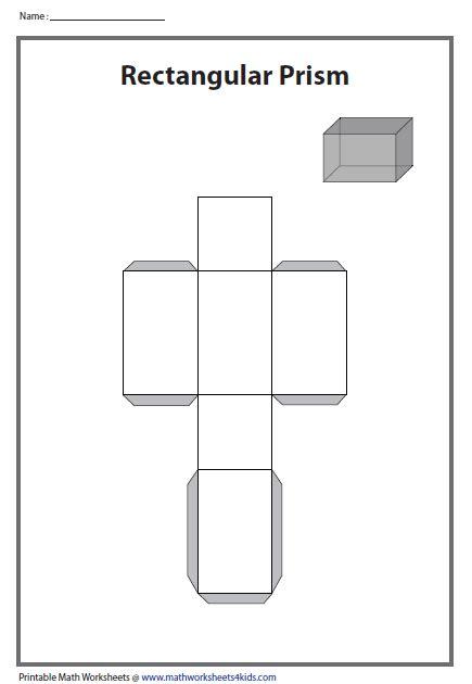 Solid Worksheet 3D Shapes Nets