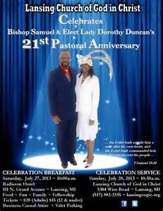 Pastor Anniversary Celebration Flyer