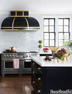 amazing black kitchen cabinets that are right on trend for With kitchen cabinets lowes with city wall art new york