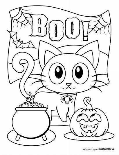 Coloring Halloween Pages Printable Spooky Boo Adults