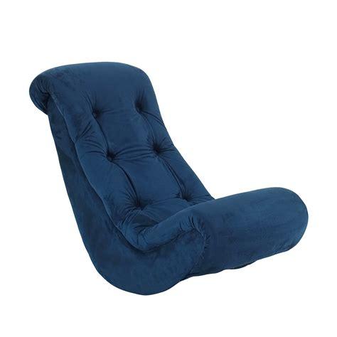 vintage banana rocking chair komfy classic banana rocker navy blue micro