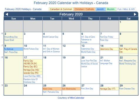 print friendly february canada calendar printing