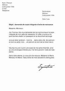 Lettre Deces : lettre de demande d 39 acte de naissance mod le de lettre ~ Gottalentnigeria.com Avis de Voitures
