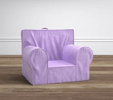 lavender rainbow anywhere chair pottery lavender velvet anywhere chair pottery barn