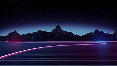 4k Retrowave Highway Wallpapers Abstract Synthwave Backgrounds