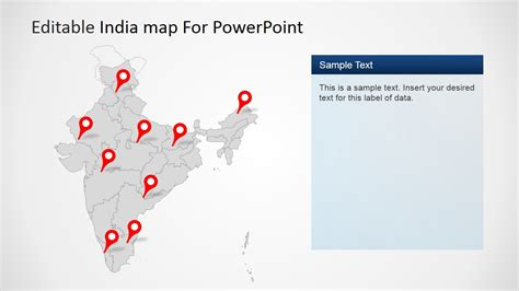 editable india map template  powerpoint slidemodel