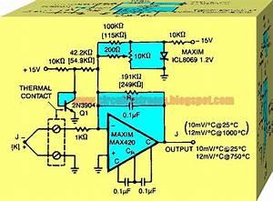 Simple Thermocouple Preamplifier Circuit Diagram