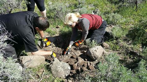 private investigator searching campground  evidence
