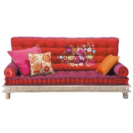 canapé style indien matelas futon coussin de sol capitonné detente et