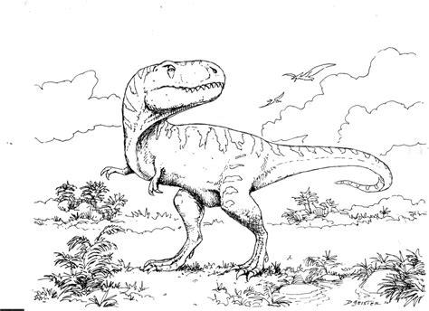 Mewarnai Dinosaurus T Rex