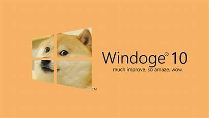 Doge Windows Dog Memes Microsoft Desktop Backgrounds