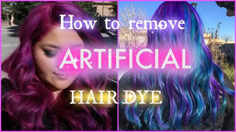 How To Remove Artificial Hair Dye
