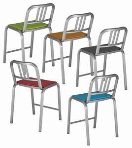 Chaise Assise 60 Cm : chaise de bar nine o assise rembourr e h 60 cm aluminium mat orange emeco ~ Teatrodelosmanantiales.com Idées de Décoration