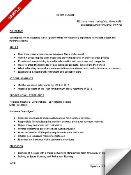 professional experience sales resume 2016 entry level insurance resume recentresumes