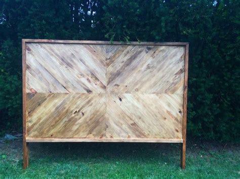 chevron wood headboard king queen fulldouble twin