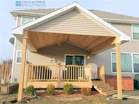 building roof over deck new roof over existing deck des moines deck builder deck and solutions