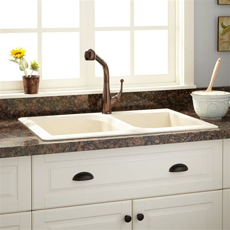 orland double bowl drop  granite composite sink