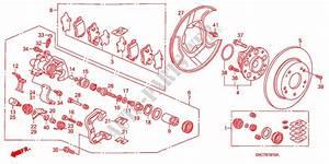 Rear Brake Disk  For Honda Cars Civic Hybrid Mx 4 Doors