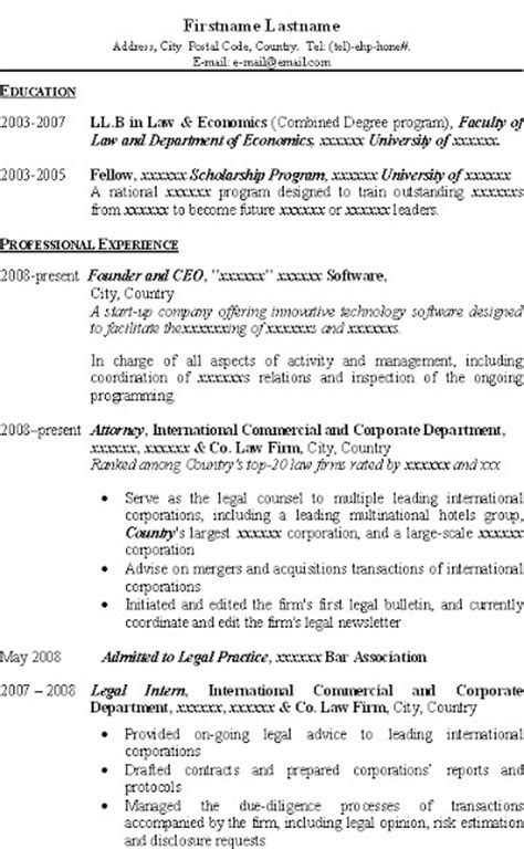 Jd Resume by Resume For Llb Llm Jd Applicant Best Resume And