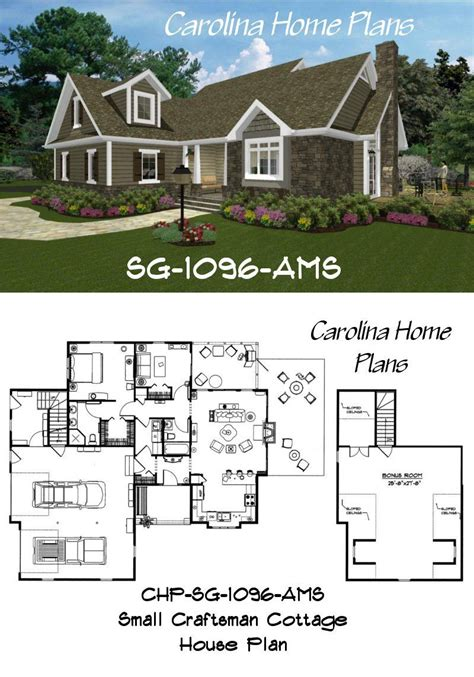 small craftsman cottage house plan compact  spacious   square feet  living space