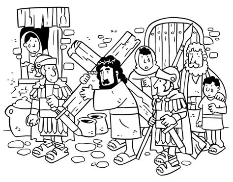 Kleurplaat Crossen by Jesus On Cross Coloring Page Getcoloringpages