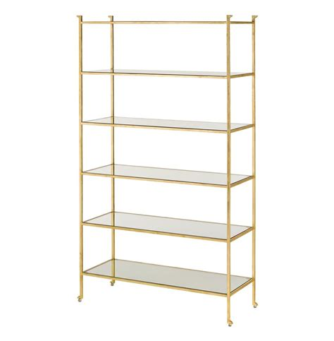 furniture category mid century modern bookcases bookcase regency gold leaf etagere display