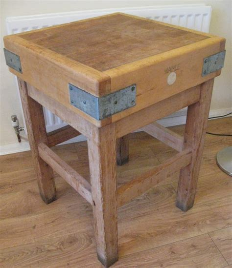 Antiques Atlas  Vintage Maple Butchers Block
