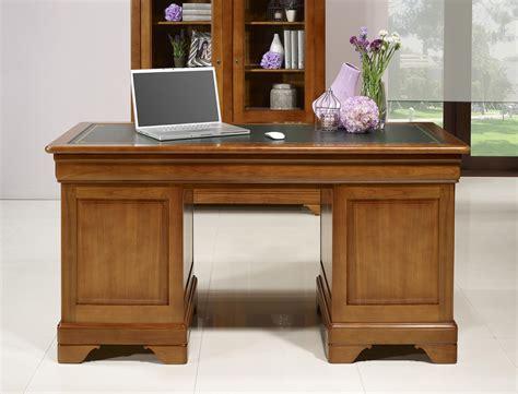 bureau style louis philippe bureau ministre 9 tiroirs en merisier massif de style