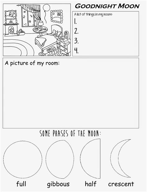 goodnight moon free printable worksheet for preschool 349 | 81635a09e11670c84ef15f165c44851c