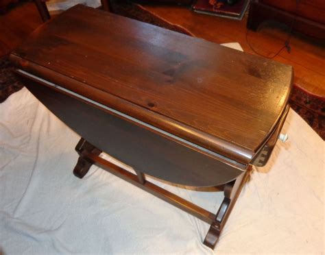 ethan allen tavern antique pine rudder drop leaf end table with drawer ebay
