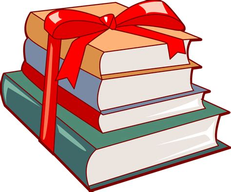 Holiday Book Gift Clipart