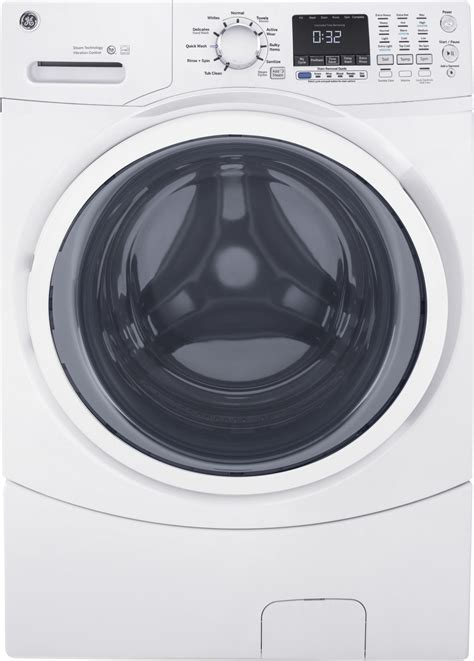 gfwsskww ge   cu ft front load washer white