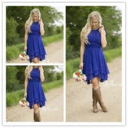 western bridesmaid dresses royal blue country bridesmaid dresses 2016 modest neck cheap western wedding