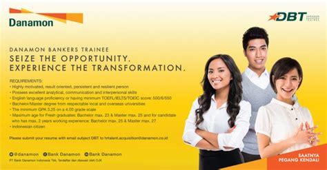 lowongan kerja pt bank danamon indonesia tbk danamon