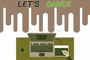 Dance Steps Footprints Ballroom Instructions Stock Vector