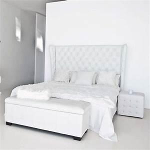 Tete De Lit Argent : banc de lit coffre blanc ~ Teatrodelosmanantiales.com Idées de Décoration