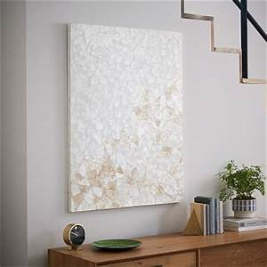Capiz wall art crystal formation west elm for Kitchen cabinets lowes with capiz wall art crystal formation
