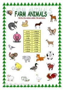 farm animals worksheets kindergarten