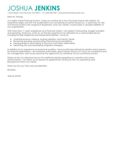 business analyst cover letter examples business sample