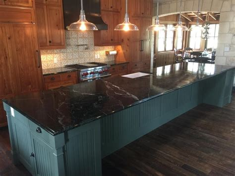Soapstone Island Countertop by This Black Soapstone Kitchen Island Countertop Was Book