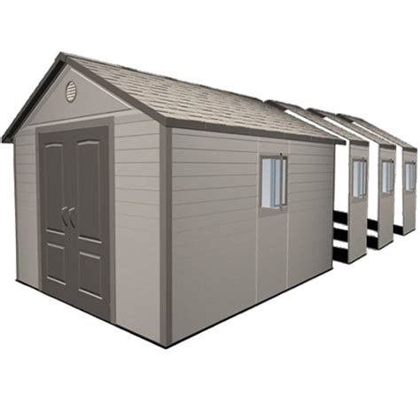 Lifetime Products Gable Storage Shed Manual by Lifetime 11x26 Heavy Duty Plastic Shed Greenhouse Stores
