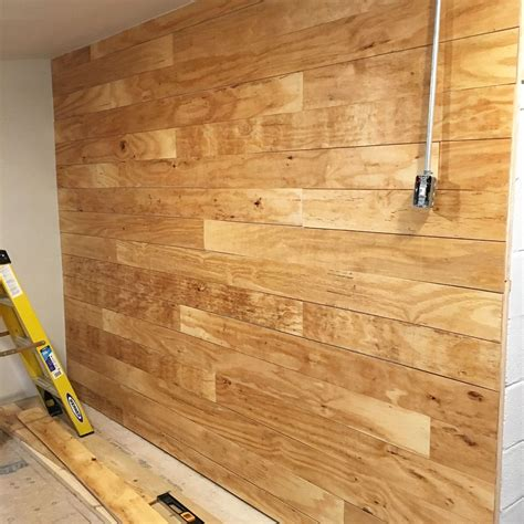 Plywood For Shiplap by Faux Shiplap Cinder Block Concrete Furring